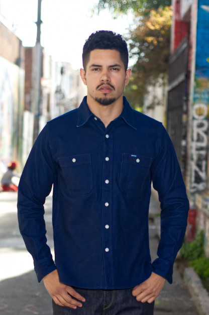 f724a89160d Iron Heart 13oz Double-Indigo Faced Workshirt