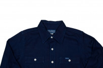 Iron Heart 13oz Double-Indigo Faced Workshirt - Image 3