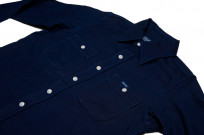 Iron Heart 13oz Double-Indigo Faced Workshirt - Image 4