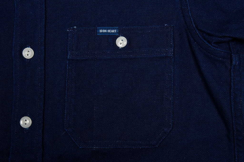 Iron Heart 13oz Double-Indigo Faced Workshirt - Image 5