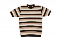 Stevenson Endless Drop Summer Knit Shirt - Brown/Peach - Image 2
