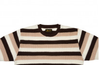 Stevenson Endless Drop Summer Knit Shirt - Brown/Peach - Image 3