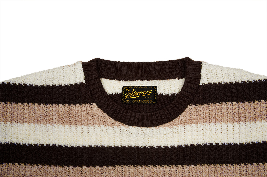 Stevenson Endless Drop Summer Knit Shirt - Brown/Peach - Image 4