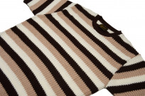 Stevenson Endless Drop Summer Knit Shirt - Brown/Peach - Image 5