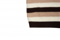 Stevenson Endless Drop Summer Knit Shirt - Brown/Peach - Image 6