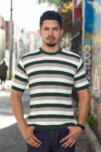 Stevenson Endless Drop Summer Knit Shirt - Green/Gray - Image 0