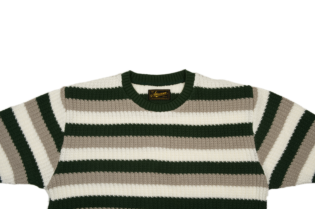Stevenson Endless Drop Summer Knit Shirt - Green/Gray - Image 3