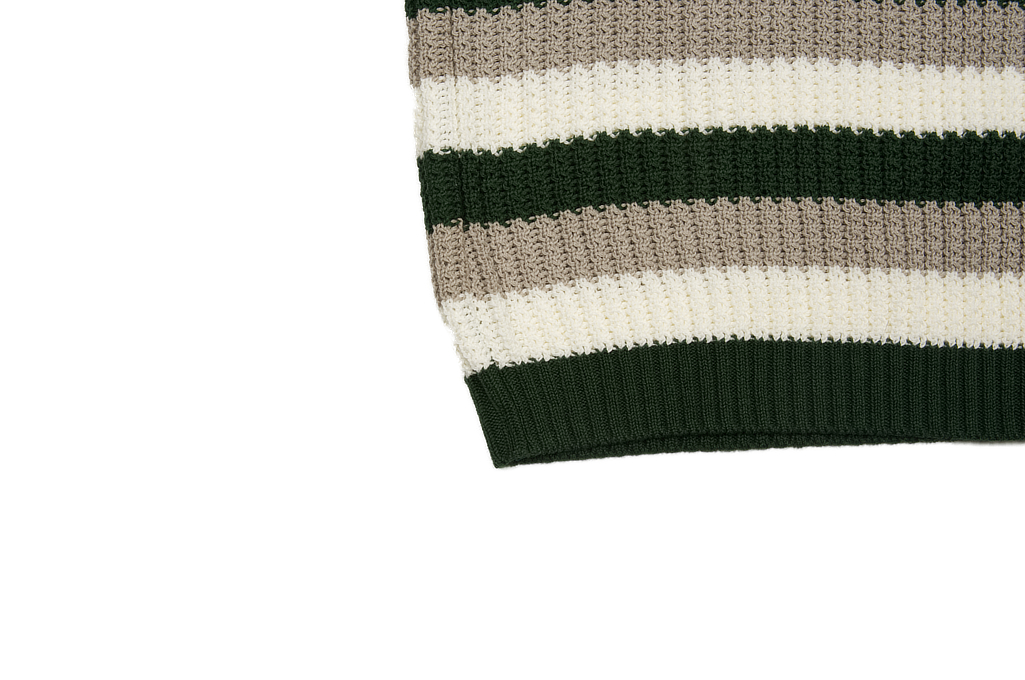 Stevenson Endless Drop Summer Knit Shirt - Green/Gray - Image 6