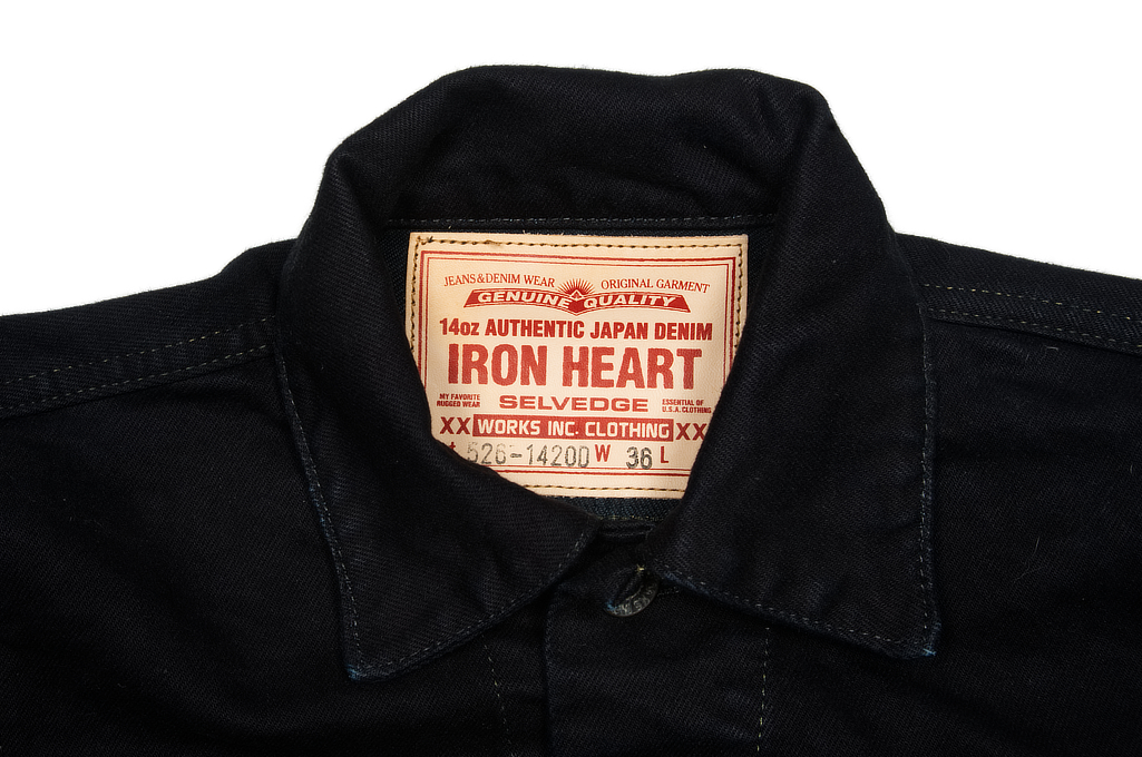 Iron Heart Overdyed Modified Type III Jacket - 14oz Denim - Image 4