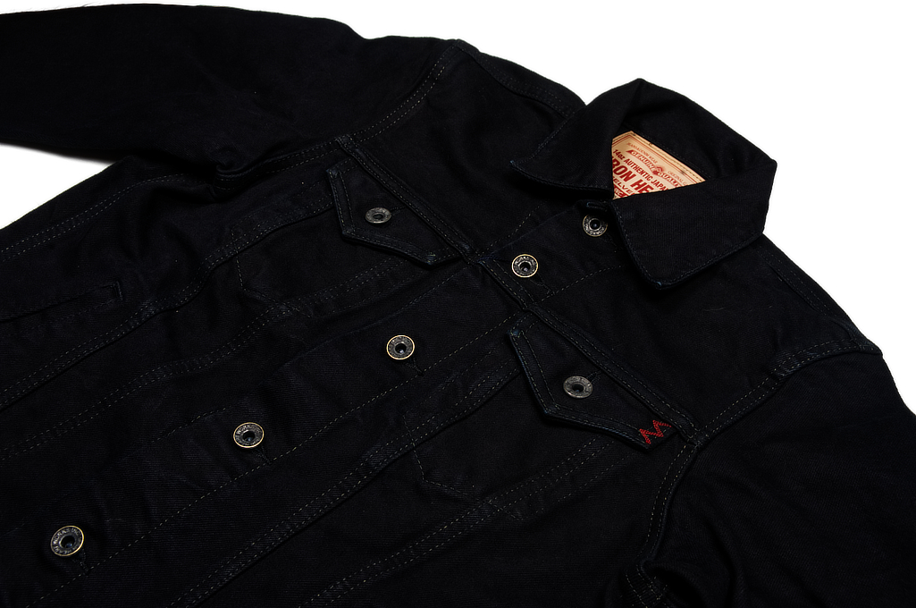 Iron Heart Overdyed Modified Type III Jacket - 14oz Denim - Image 5