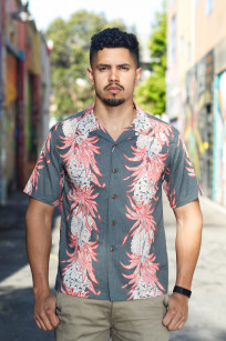 Sun Surf Pineapple Chain Linen Blend Shirt - Image 0