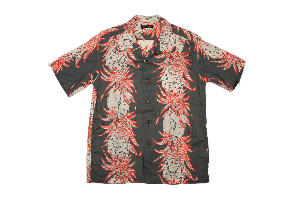 Sun Surf Pineapple Chain Linen Blend Shirt - Image 2