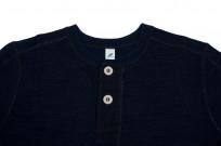 Pure Blue Japan Long Sleeve Henley - Flat Seam Slub Jersey - Image 4