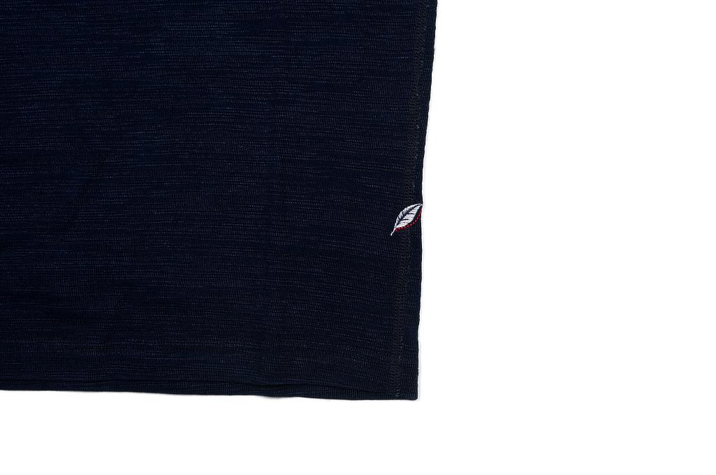 Pure Blue Japan Long Sleeve Henley - Flat Seam Slub Jersey - Image 5