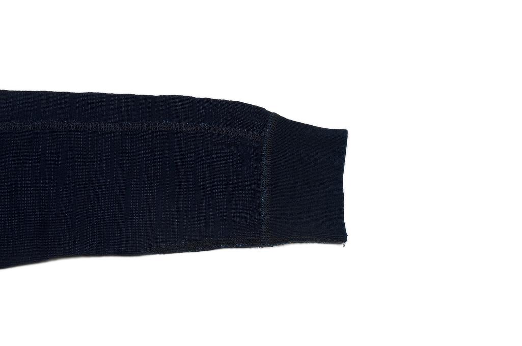 Pure Blue Japan Long Sleeve Henley - Flat Seam Slub Jersey - Image 7