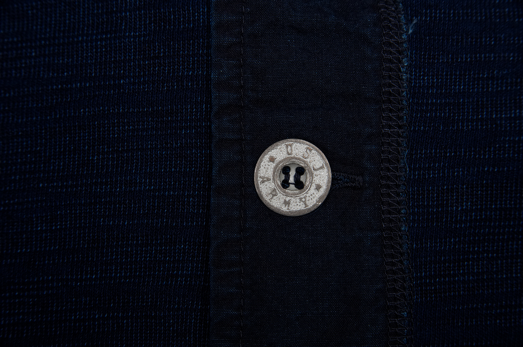 Pure Blue Japan Long Sleeve Henley - Flat Seam Slub Jersey - Image 8