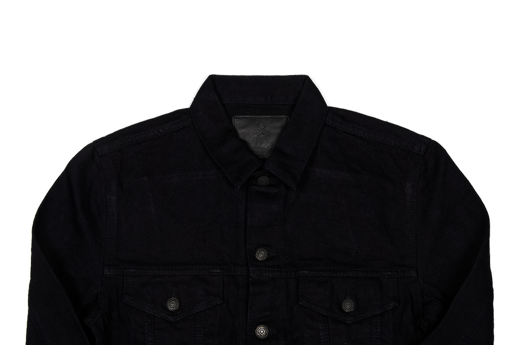Pure Blue Japan Type III Denim Jacket - 18oz Indigo/Black - Image 3