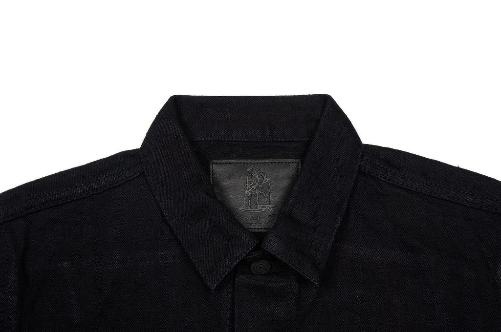 Pure Blue Japan Type III Denim Jacket - 18oz Indigo/Black - Image 4