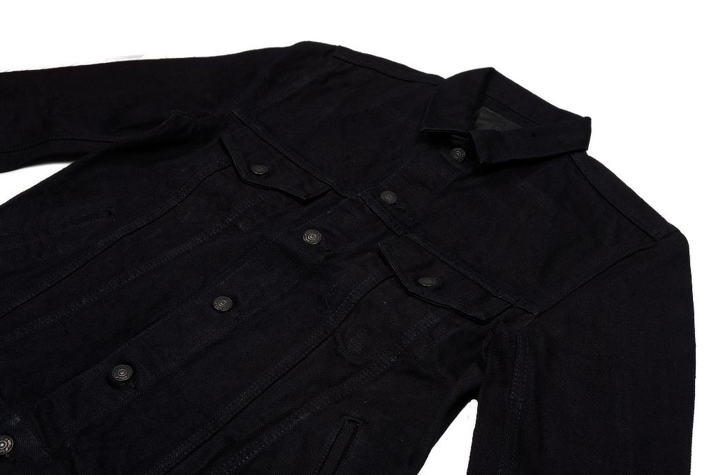 Pure Blue Japan Type III Denim Jacket - 18oz Indigo/Black - Image 5