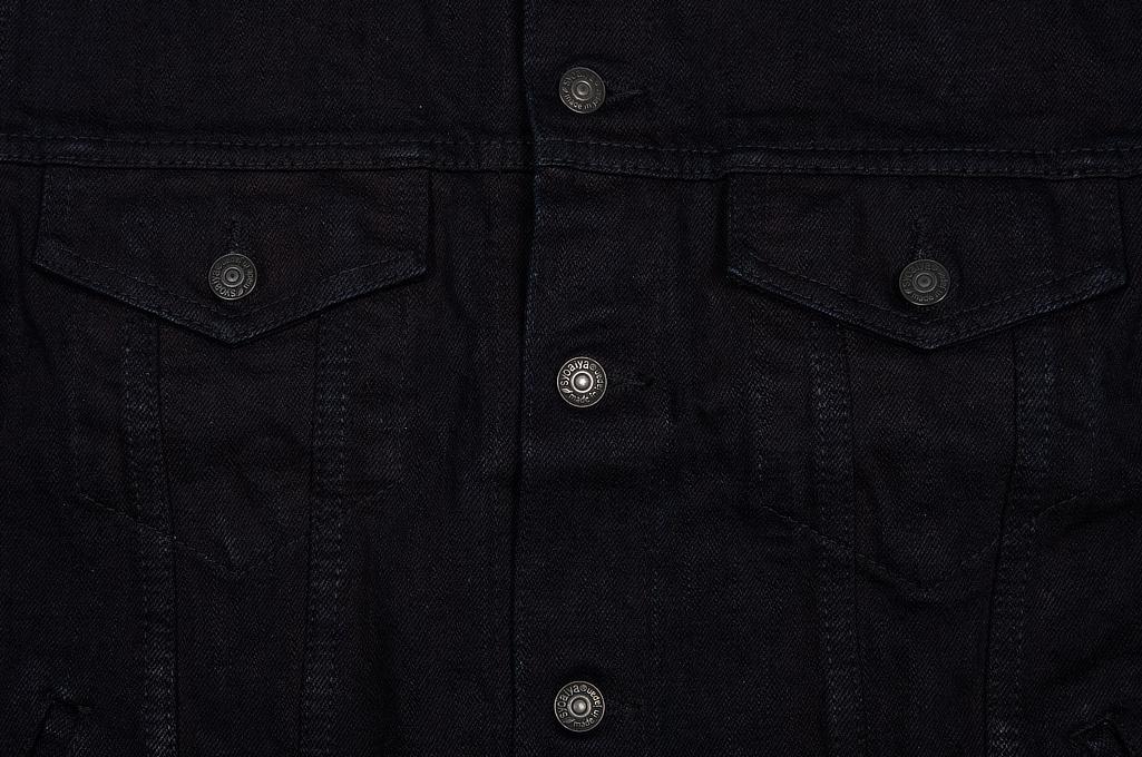 Pure Blue Japan Type III Denim Jacket - 18oz Indigo/Black - Image 6