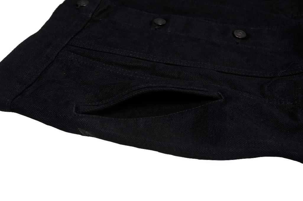 Pure Blue Japan Type III Denim Jacket - 18oz Indigo/Black - Image 7