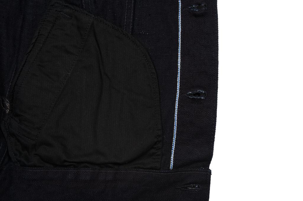 Pure Blue Japan Type III Denim Jacket - 18oz Indigo/Black - Image 9