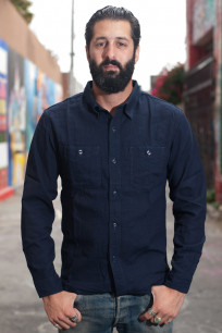 Flat Head Glory Park Indigo-Dyed Linen Shirt - Long Sleeve - Image 0
