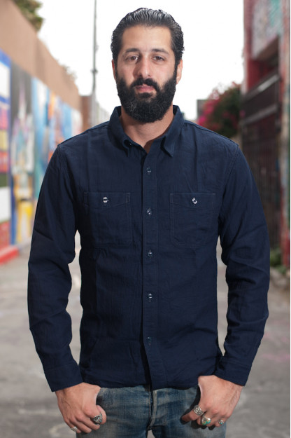 Flat Head Glory Park Indigo-Dyed Linen Shirt - Long Sleeve