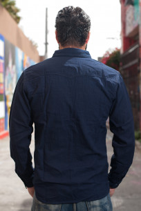 Flat Head Glory Park Indigo-Dyed Linen Shirt - Long Sleeve - Image 1