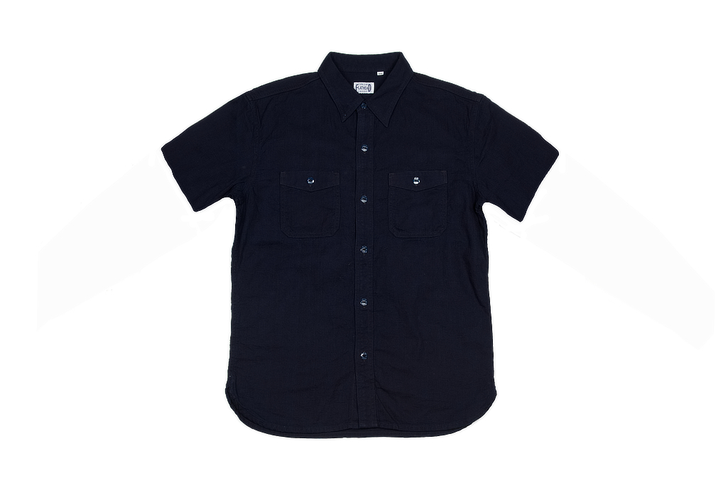 Flat Head Glory Park Indigo-Dyed Linen Short Sleeve - Image 2