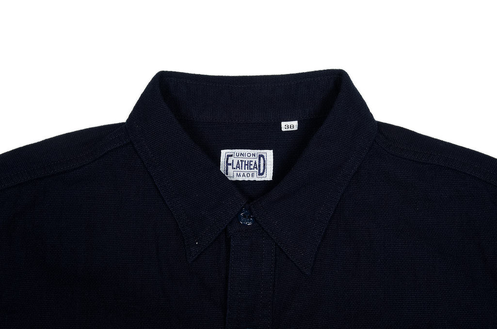 Flat Head Glory Park Indigo-Dyed Linen Short Sleeve - Image 3