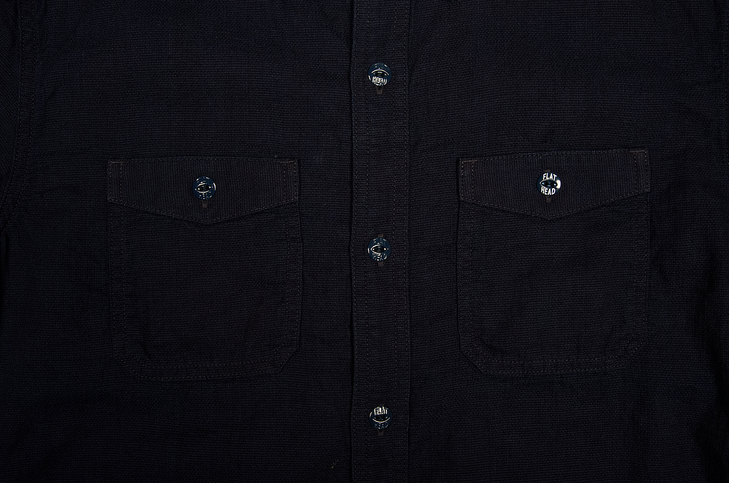 Flat Head Glory Park Indigo-Dyed Linen Short Sleeve - Image 4