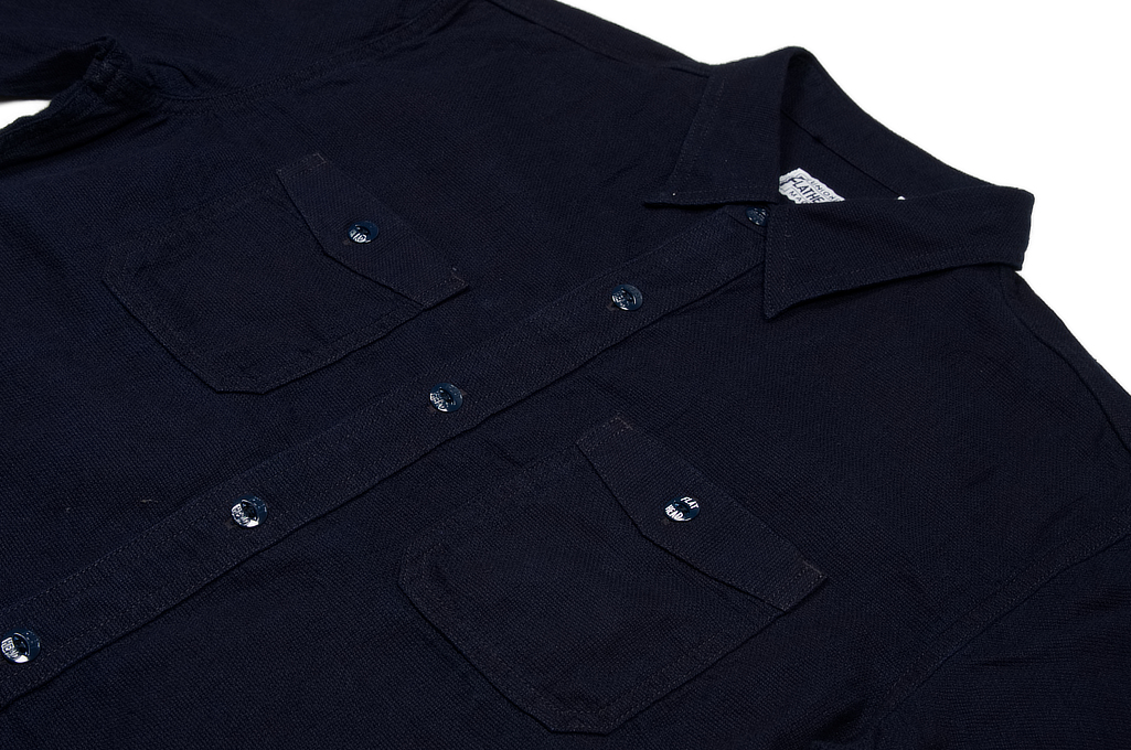Flat Head Glory Park Indigo-Dyed Linen Short Sleeve - Image 5