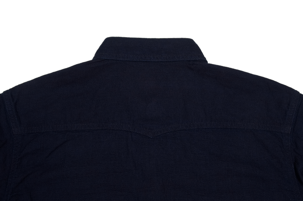 Flat Head Glory Park Indigo-Dyed Linen Short Sleeve - Image 7