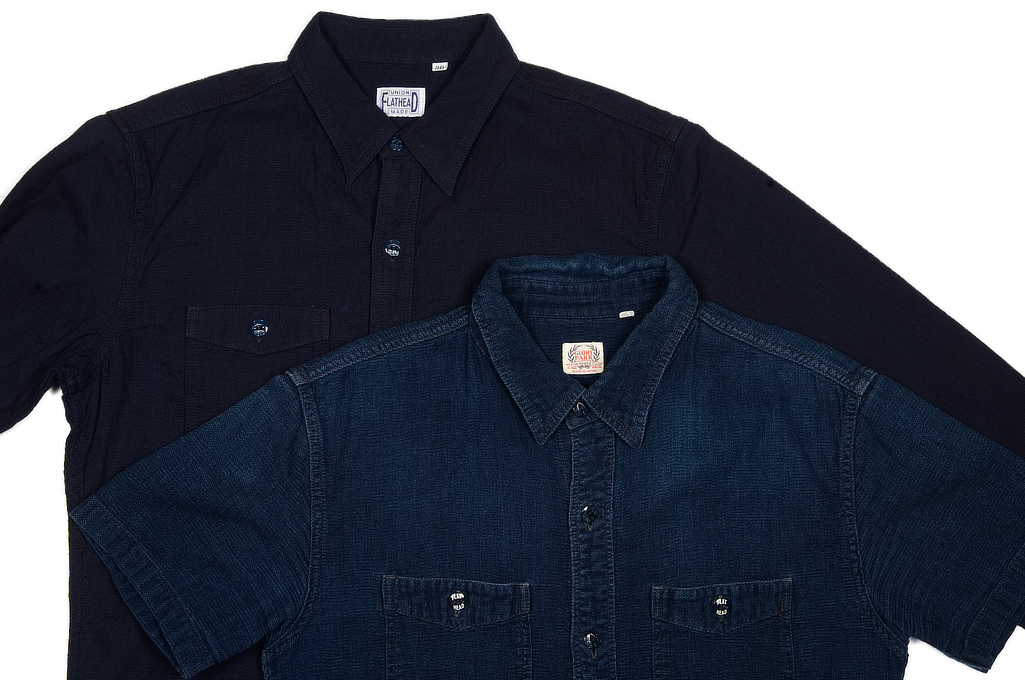 Flat Head Glory Park Indigo-Dyed Linen Shirt - Long Sleeve - Image 9