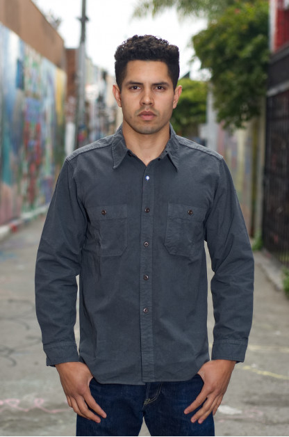 Seuvas 79A Canvas Workshirt - Charcoal