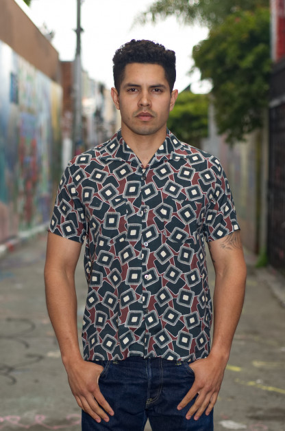 Stevenson Libertine Silk & Rayon Blend Shirt