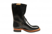 Flat Head Goodyear Welted Engineer Boots - Black Chromexcel - Image 9