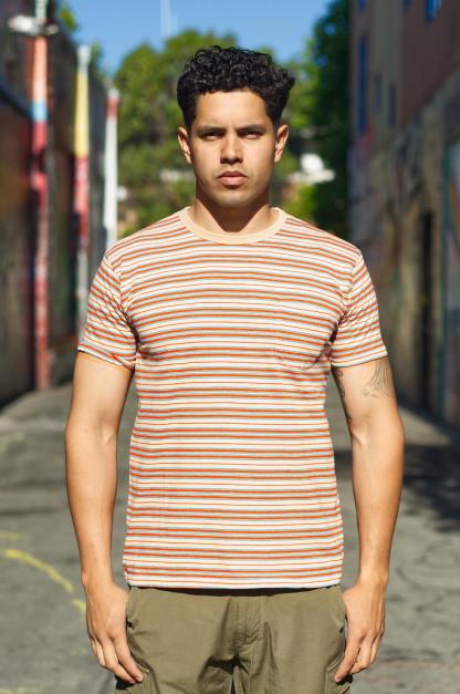 Stevenson 2019 Classic Border Pocket T-Shirt - Beige