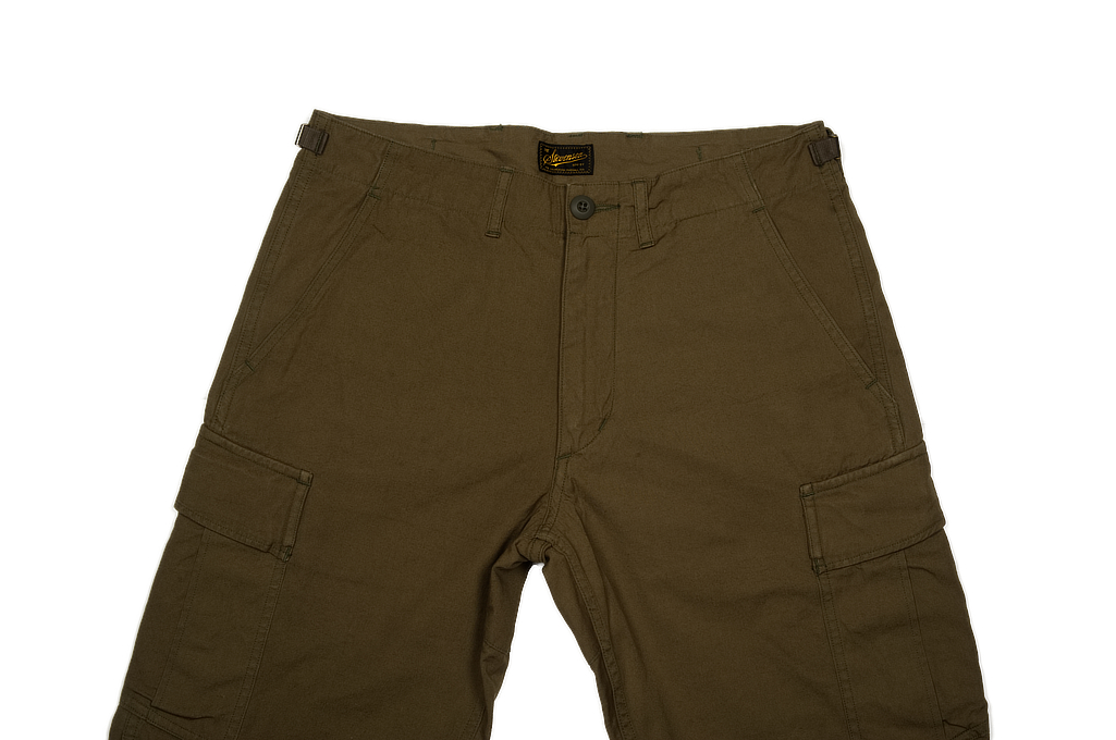 Stevenson Recon Fatigue Trousers - New Slub Olive - Image 2