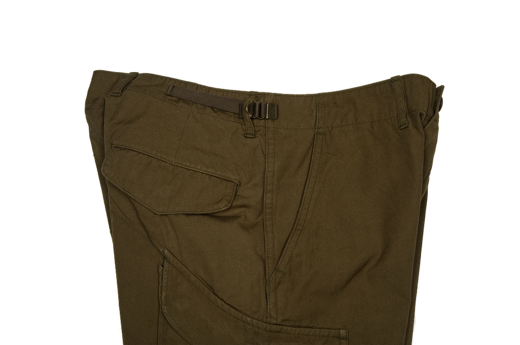 Stevenson Recon Fatigue Trousers - New Slub Olive - Image 5