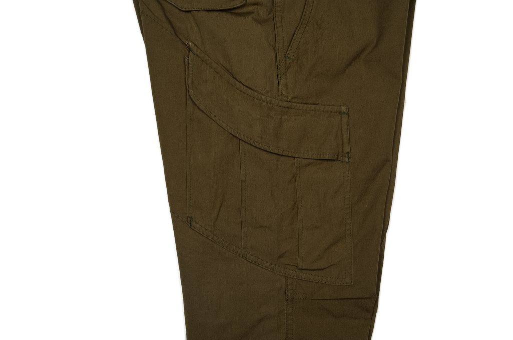 Stevenson Recon Fatigue Trousers - New Slub Olive - Image 6
