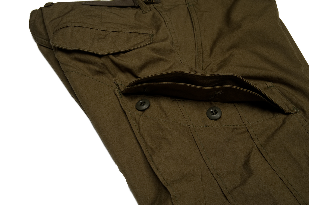 Stevenson Recon Fatigue Trousers - New Slub Olive - Image 7