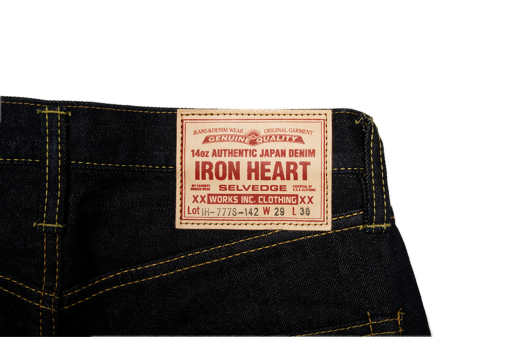Iron Heart 777s-142 Jeans - Slim Tapered 14oz Denim - Image 7