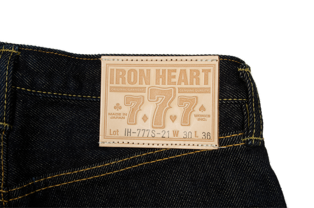 Iron Heart 777s Jeans - Slim Tapered 21oz - Image 7