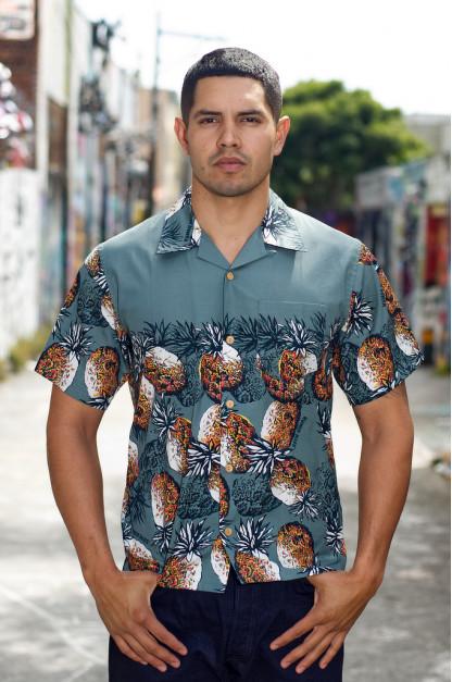 Human Made Cotton Button'd Shirt - Pineapple Moments