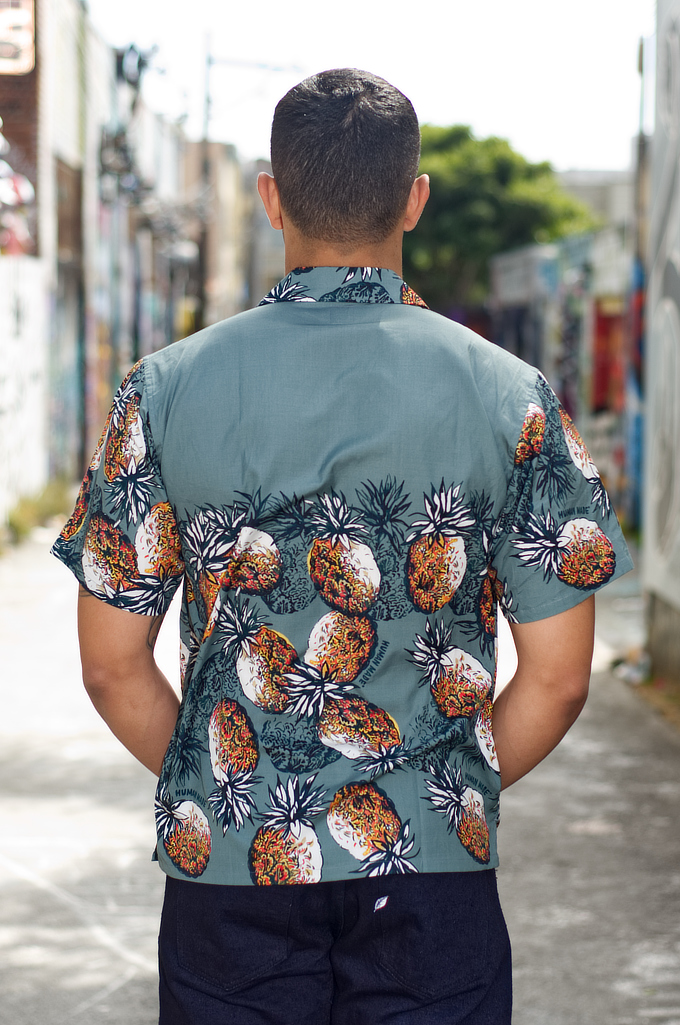 Human Made Cotton Button'd Shirt - Pineapple Moments - Image 1