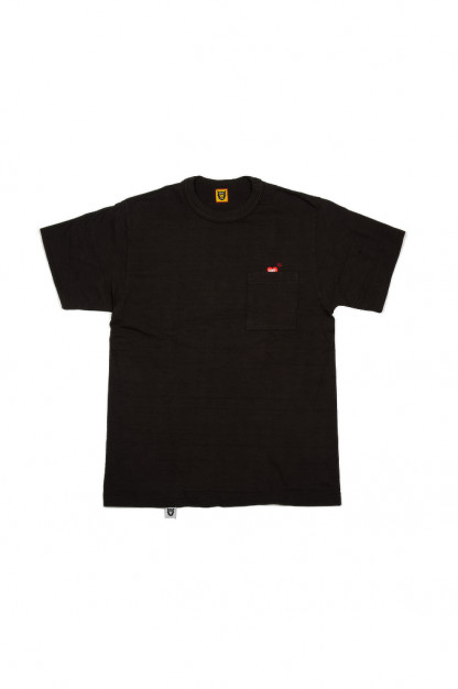 Human Made Slub Cotton T-Shirt - Pocket Peek / Black