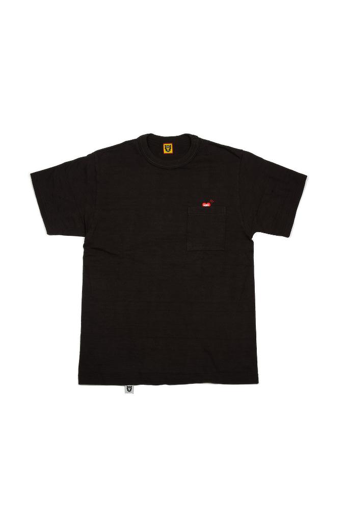 Human Made Slub Cotton T-Shirt - Pocket Peek / Black - Image 0