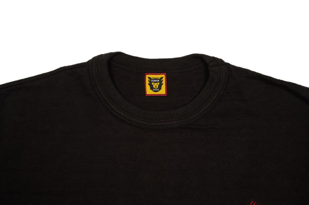Human Made Slub Cotton T-Shirt - Pocket Peek / Black - Image 1